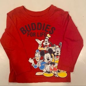 Disney Junior Mickey Buddies for Life Red shirt 3T